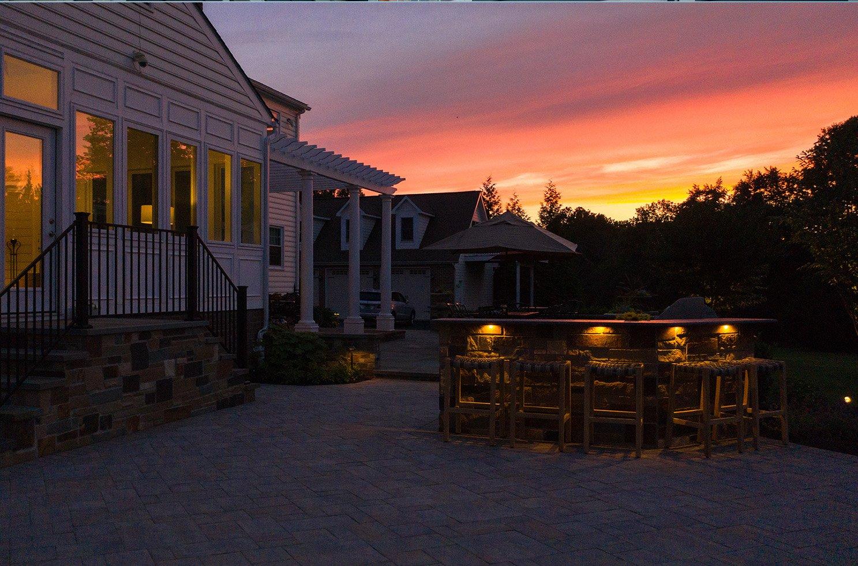 outdoor kitchen lights