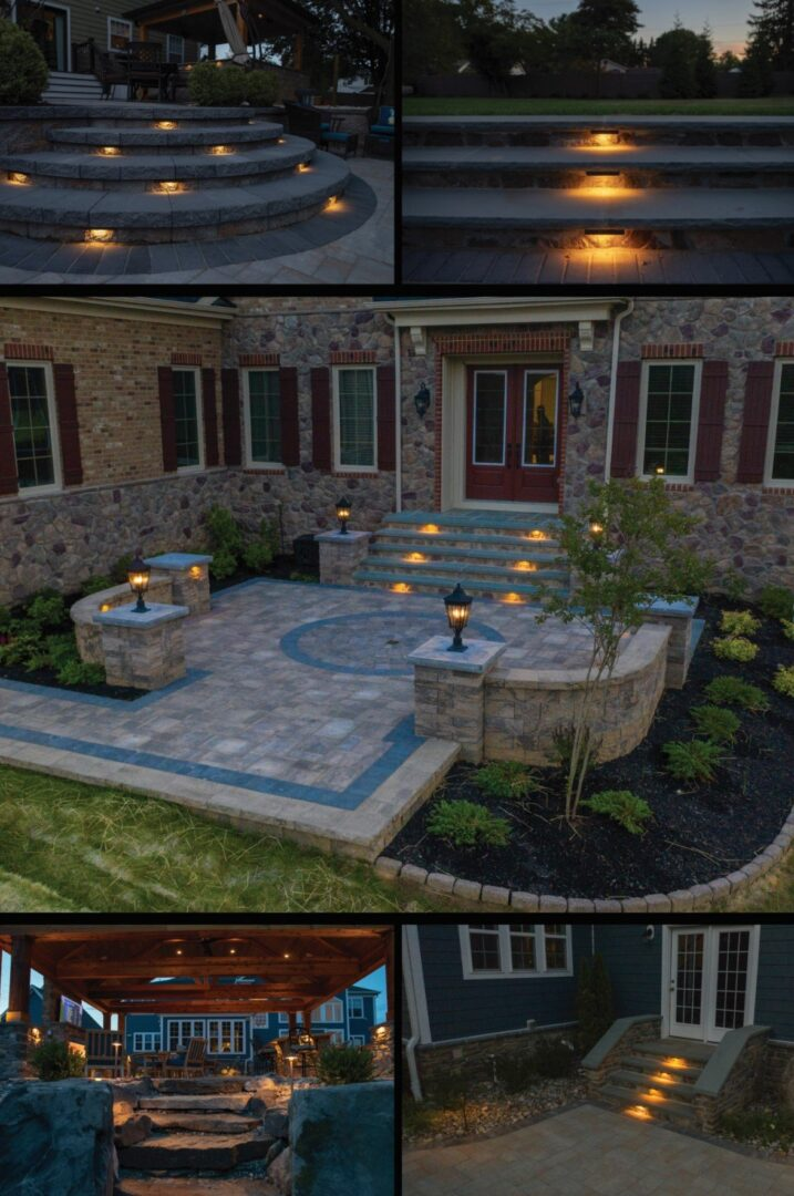 exterior lighting install for home