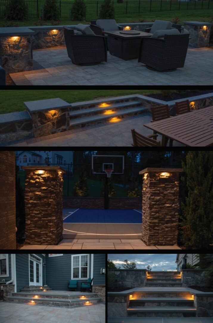 outdoor landscape light installer