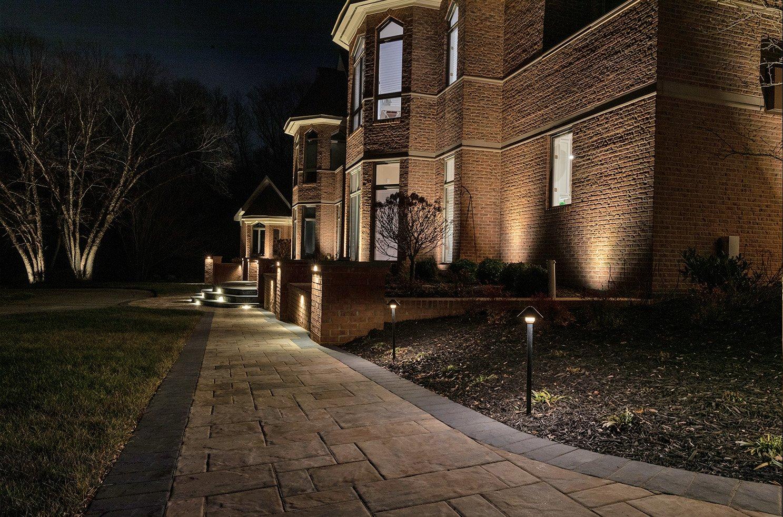 aqua bright landscape lighting design installation